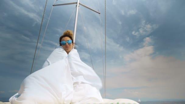 Luxusní životní styl plachetnice zdravé přírodě svobodu cestování Turistika