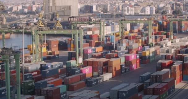 CASABLANCA, MOROCCO - October 15, 2019: Container terminal, business logistic. Crane, Trade Port , Shipping.