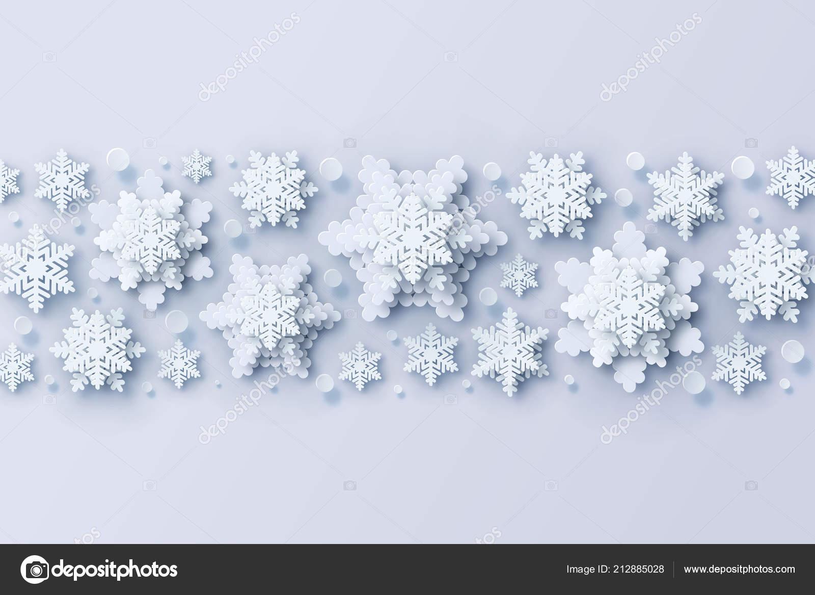 Fiocchi Di Neve Di Carta Modelli : Astratto natale con fiocchi neve carta volumetrica bianchi fiocchi