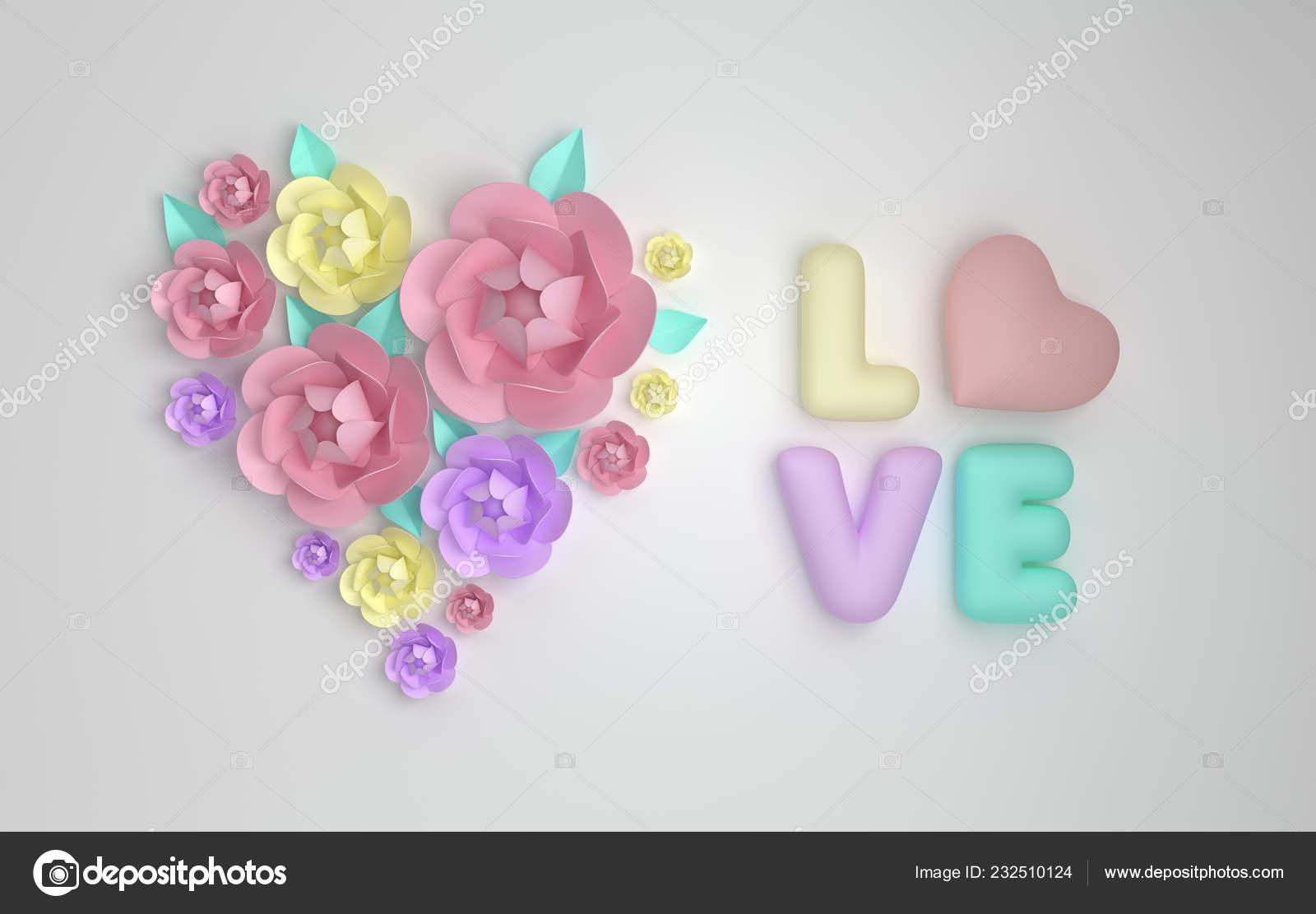 Decorazioni Lettere D Amore fiori carta della render forma cuore lettere plastica amore