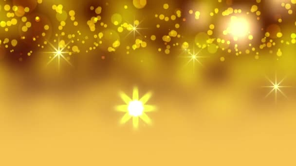 Christmas yellow stars animation fog background