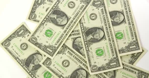 US Dollar Bills Top View