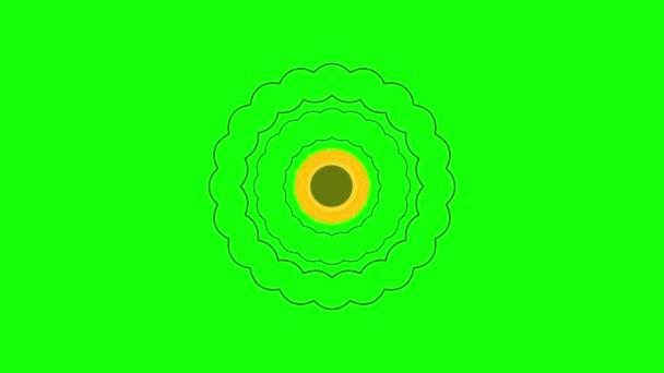 Minta egy zöld háttér. Geometriai alakzat egy zöld háttér. Zöld háttér, minta animáció. Világos minta egy zöld háttér. Gyönyörű színű animált minta egy zöld háttér.