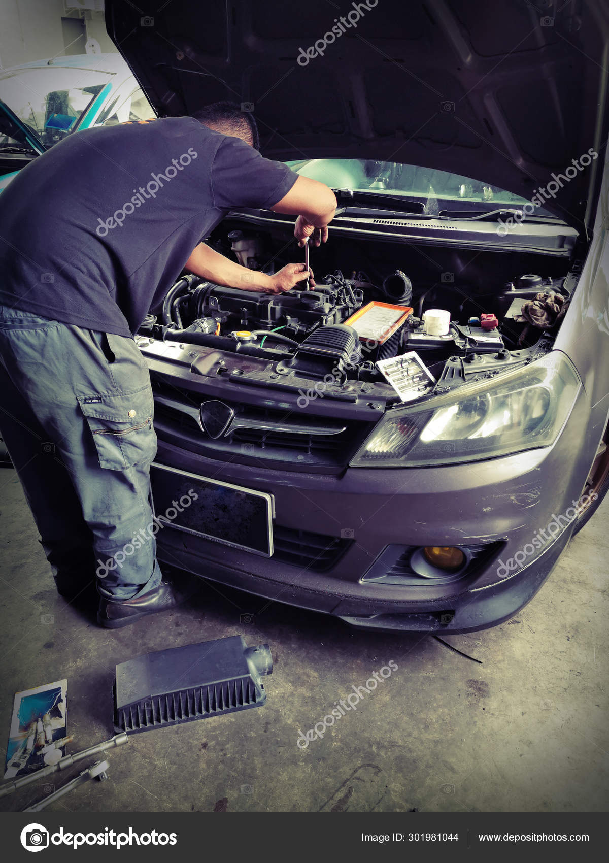 Car Repair And Maintenance >> Car Service Repair Maintenance Professional Car Mechanic Man