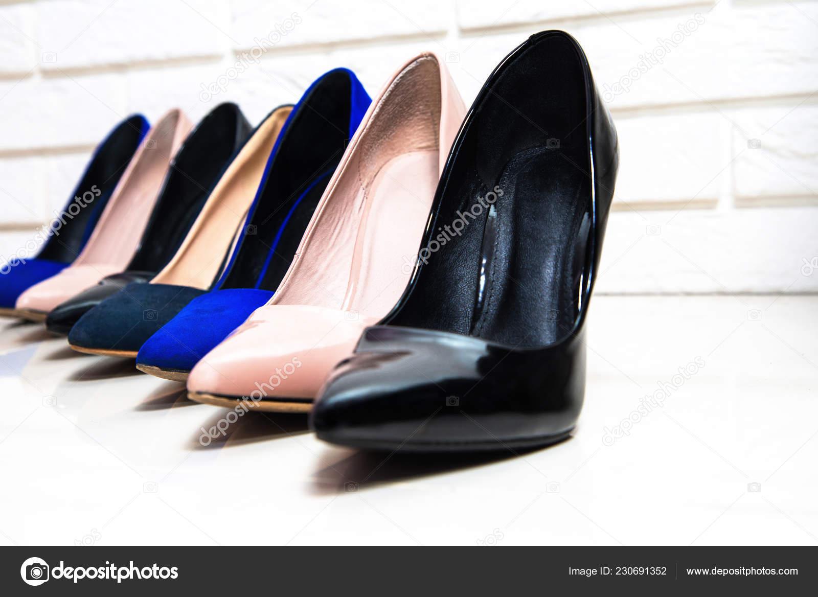 High Heels Footwear White Background