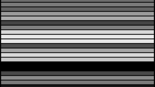 Abstract black and white line bar blink animation video