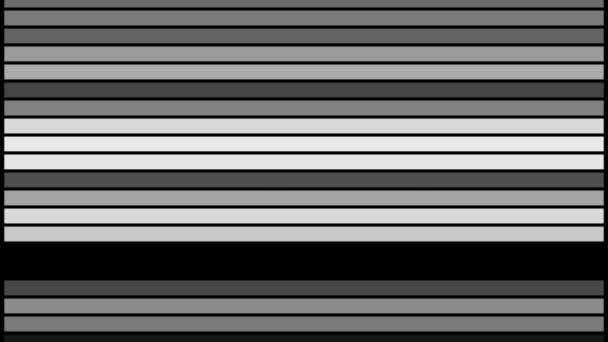 Abstraktní černá a bílá čára pruh blikání animace video