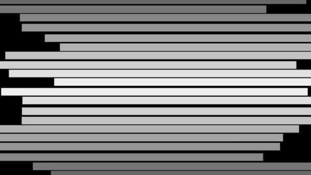Absztrakt fekete-fehér vonalak, mozgó háttér vízszintes mozgás.