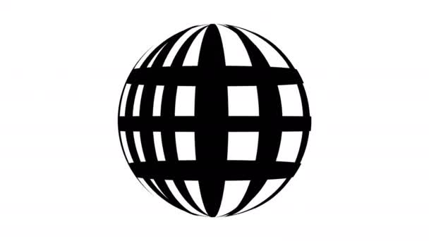 Osnovy svět ikonu web design rotace na bílém pozadí motion videa. Webové ikony internet pohybující koncept
