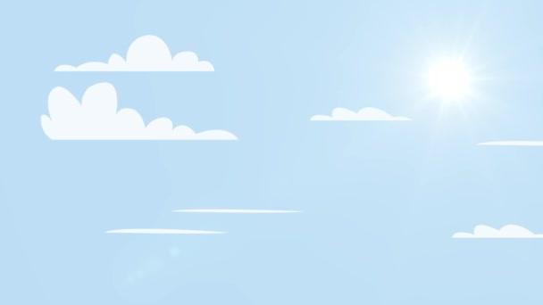 Langit Kartun Stok Video, Langit Kartun Rekaman Bebas Royalti |  Depositphotos®