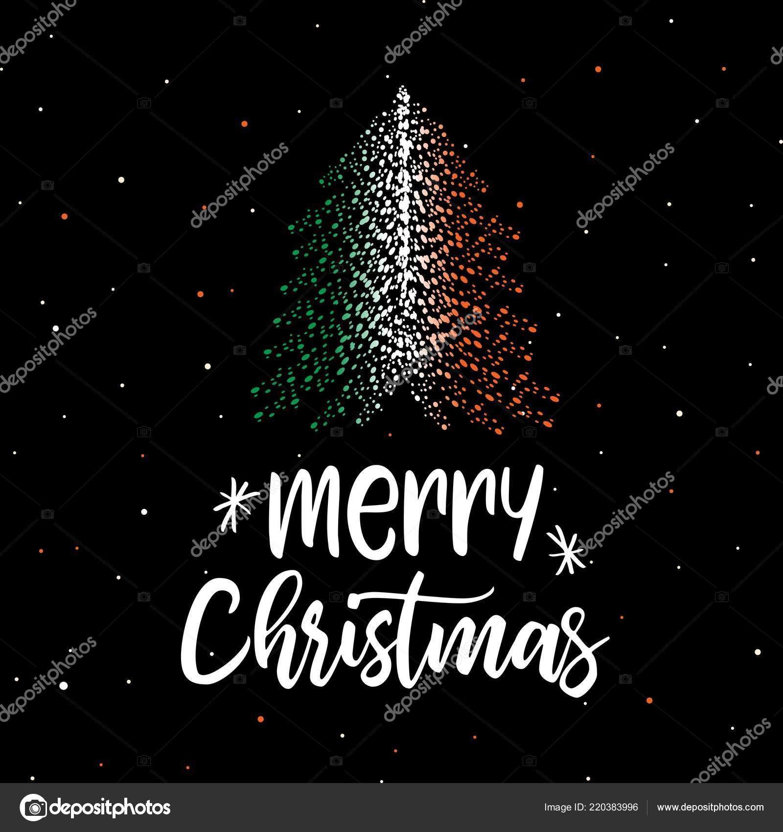Merry Christmas In Irish.Merry Christmas Christmas Tree Irish Flag Stock Vector