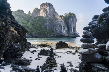 Morning at Nui Bay Beach, Phi-Phi, Thailand, Krabi province Andaman sea