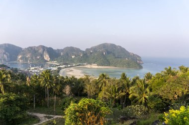 Viewpoint at Morning time on Phi-Phi island, Thailand, Krabi province Andaman sea