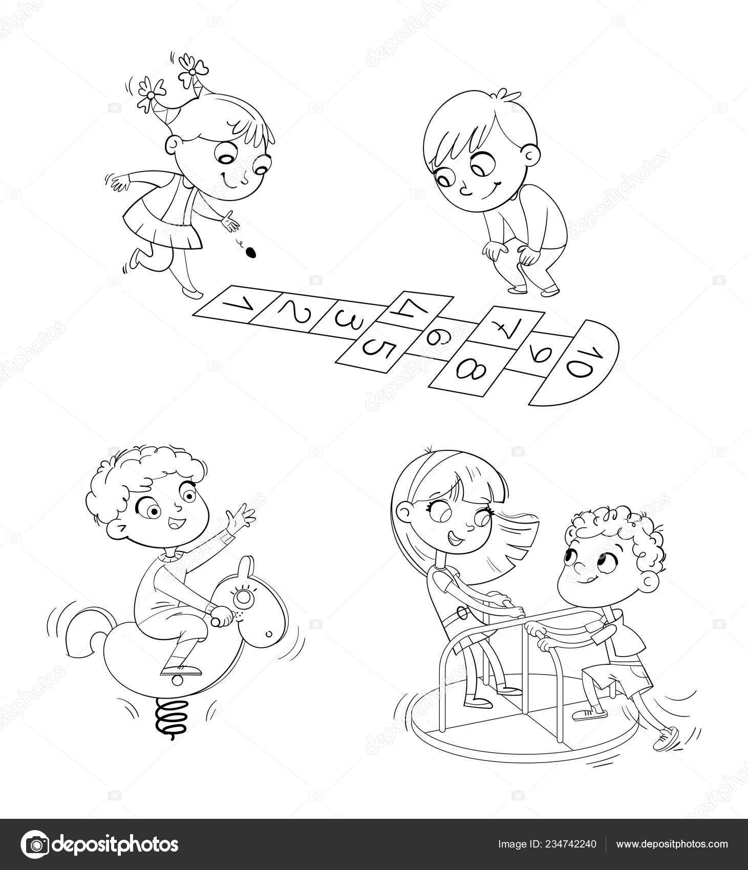 Parque De Recreación Zona De Juegos Zona De Niños Lugar Para