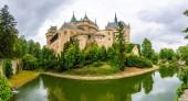 Bojnice středověký hrad, dědictví Unesco, Slovensko. To je romantický zámek s některými původní gotické a renesanční prvky, postavený ve 12. století.
