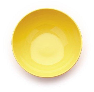yellow bowl on white background
