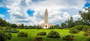 The famous and historic Art Deco Louisiana State Capitol Building, Baton Rouge, LA