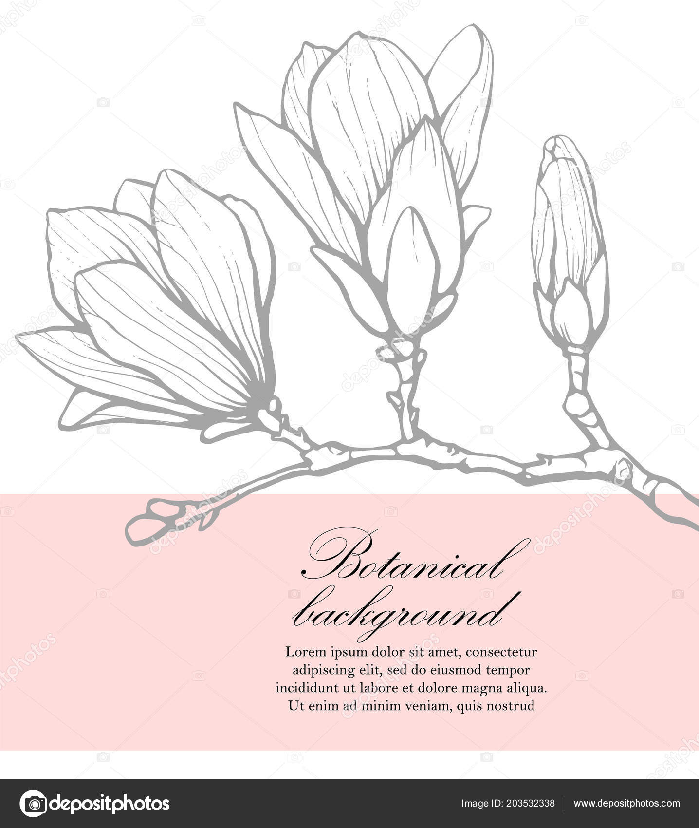 Botanical wedding template with magnolia wedding invitation save botanical wedding template with magnolia wedding invitation save the date reception card stopboris Gallery