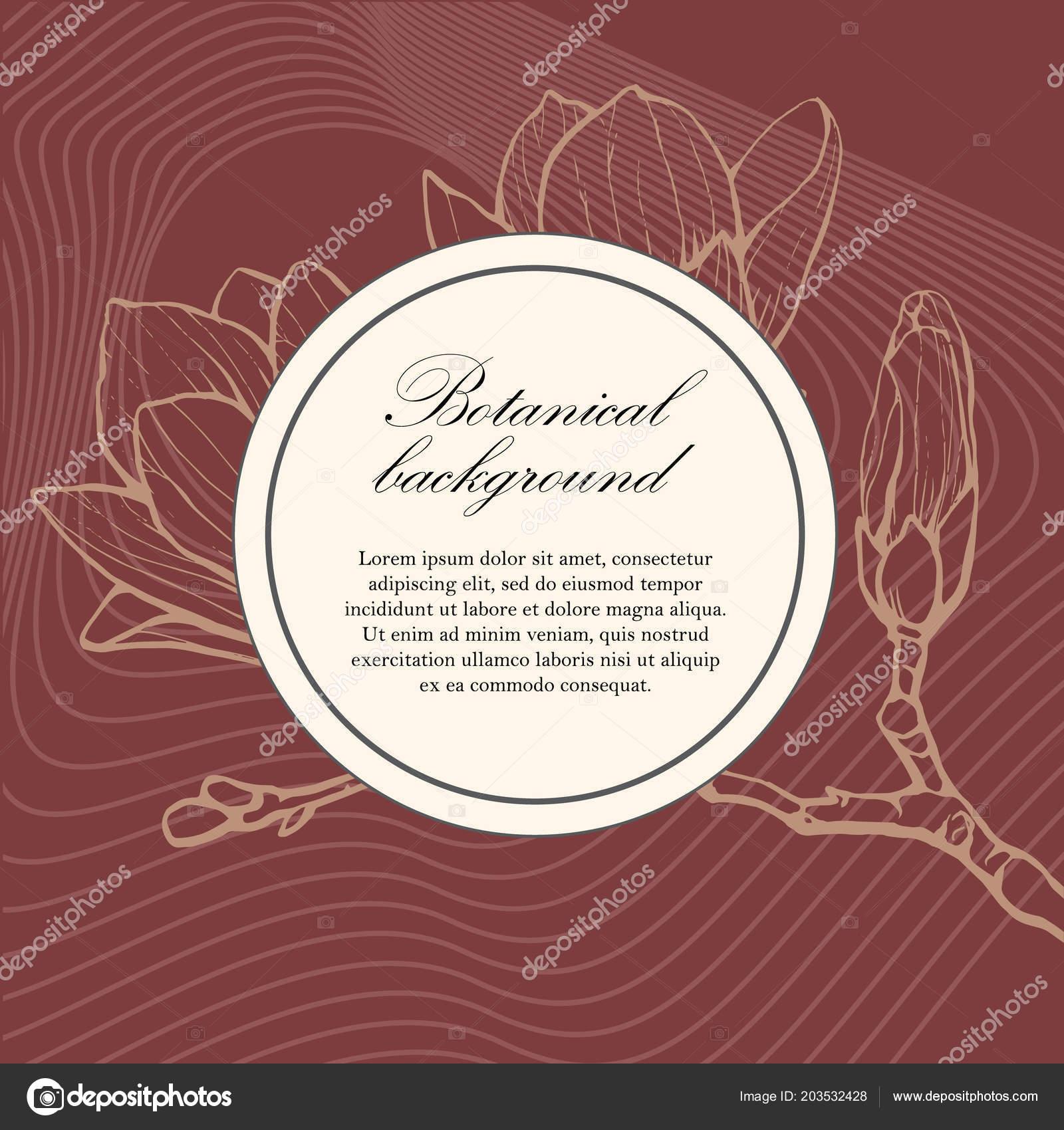517fc57e52 Növénytani esküvői sablon magnolia. Esküvői meghívó, mentse a dátum, a  recepció kártya.