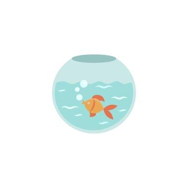 Aquarium flat vector icon