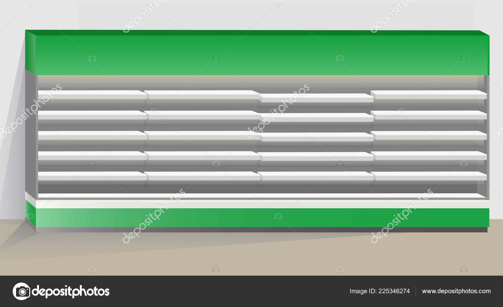 Kühlschrank Beleuchtung : Lange leere supermarkt kühlschrank mit regalen und beleuchtung der