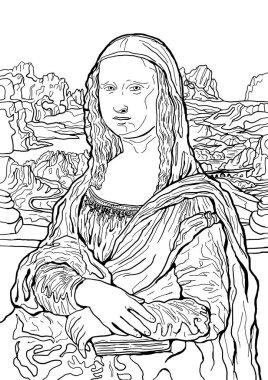 Vector Illustration of Leonardo da Vinci's painting