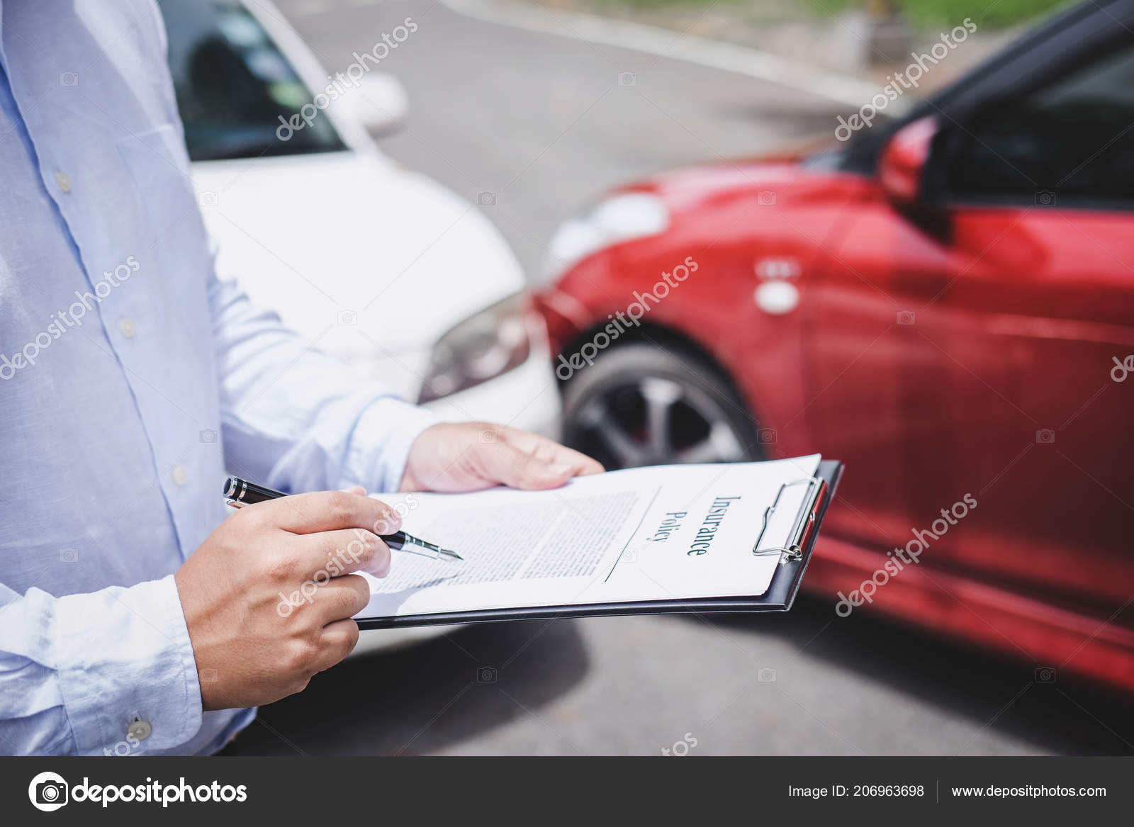 Traffic Accident Insurance Concept Insurance Agent Working Report Form Car Stock Photo Image By C Freedomtumz 206963698