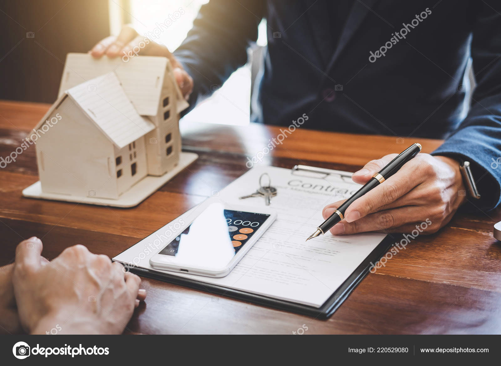 Real Estate Broker Agent Presenting Consult Customer Decision Making