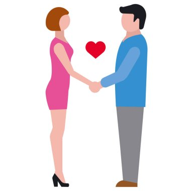 Illustration of the love relationship icon icon
