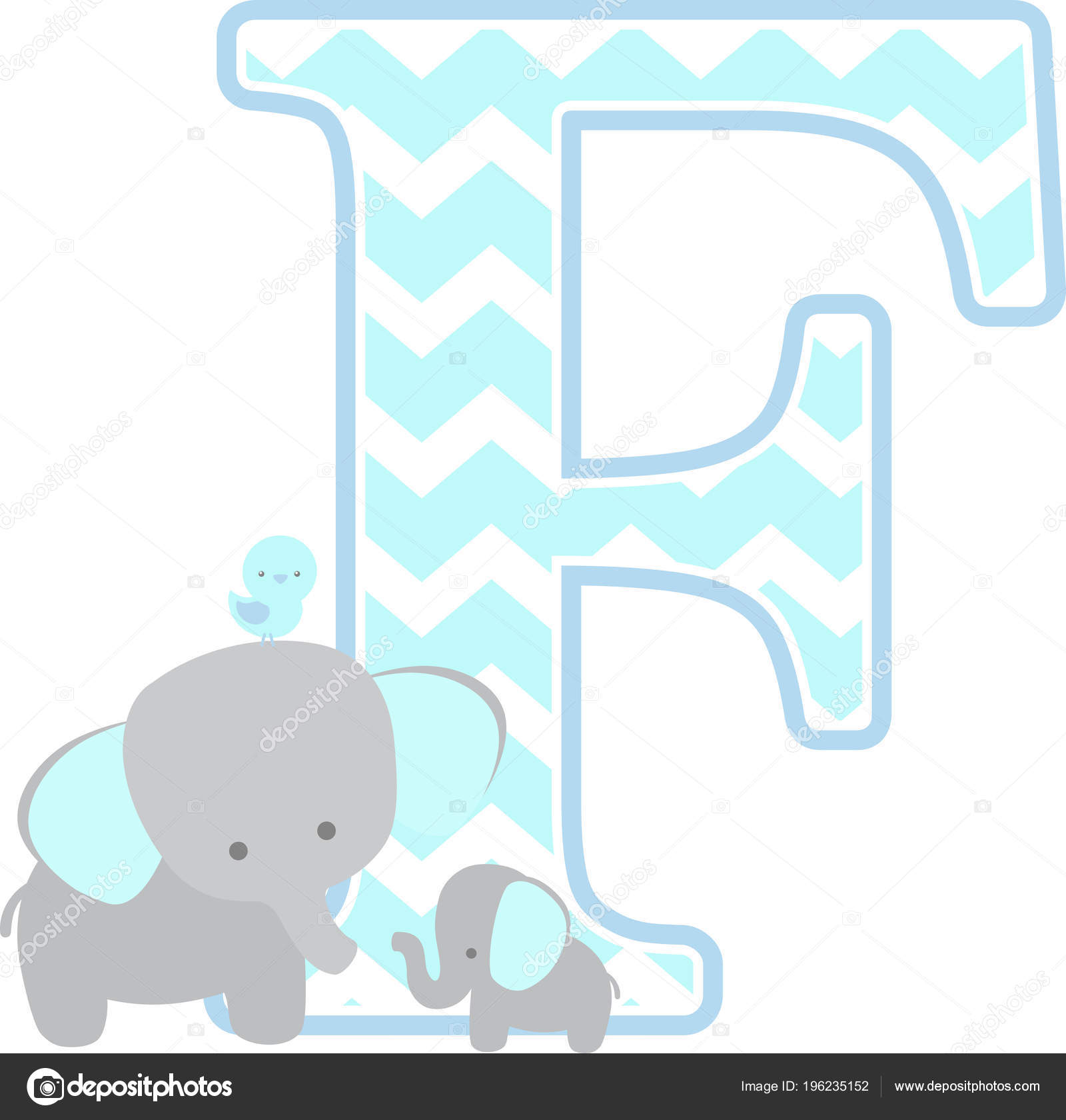 And Little Baby Elephant Isolated On White Background Can Be Used For Fathers Day Card Boy Birth Announcements Nursery Decoration Party Theme