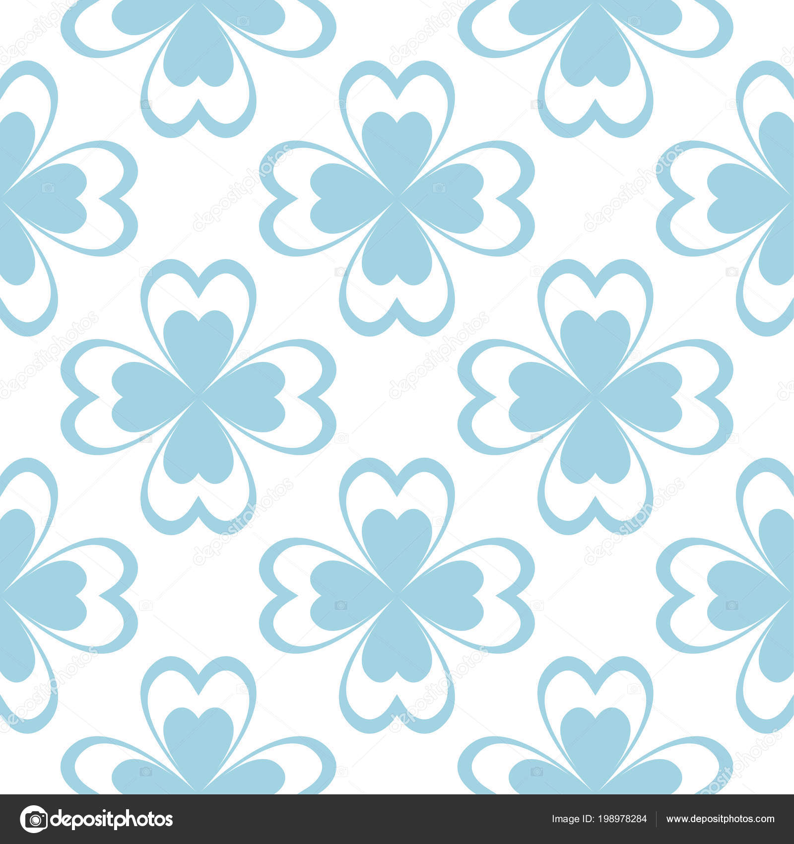 Floral Colored Seamless Pattern Blue White Background Fower Elements