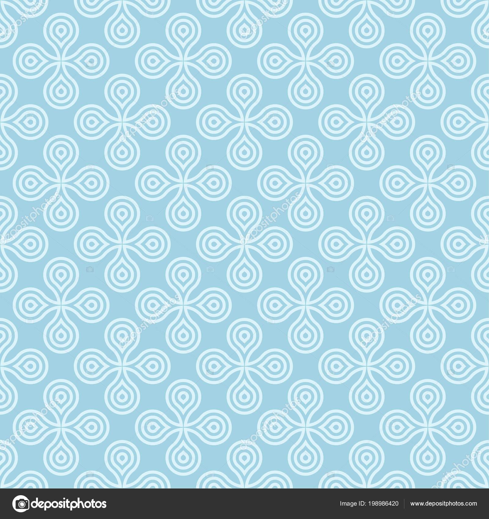 Light Blue Geometric Print Seamless Pattern Web Textile Wallpapers