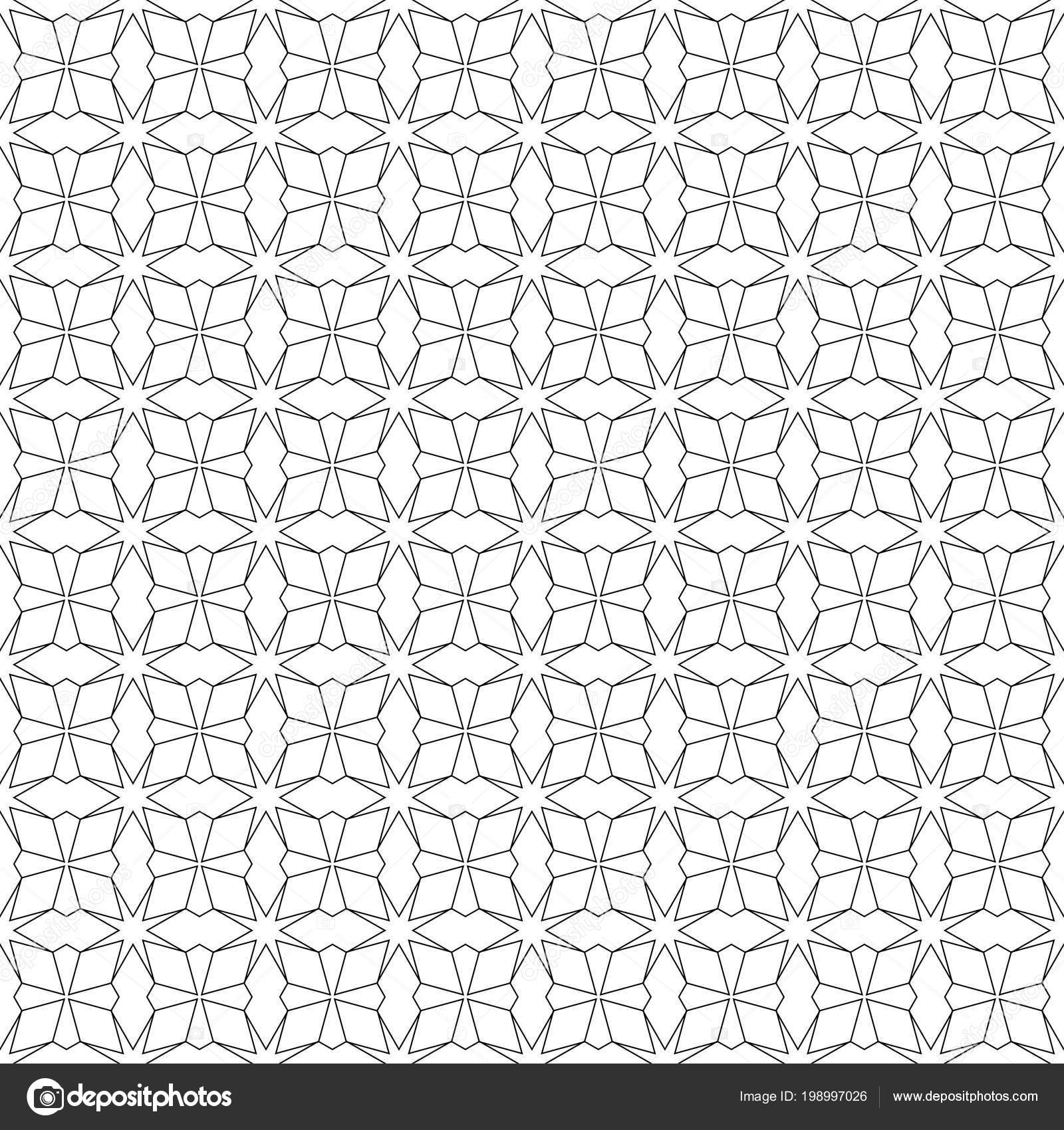 Black On White Seamless Pattern For Web, Textile And Wallpapers