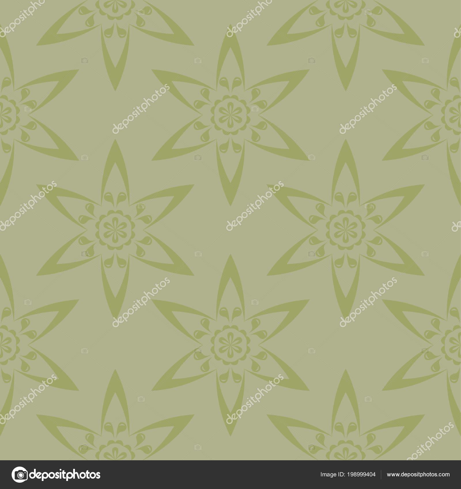 Oliv Grun Floral Ornament Nahtlose Muster Fur Textilien Und Tapeten