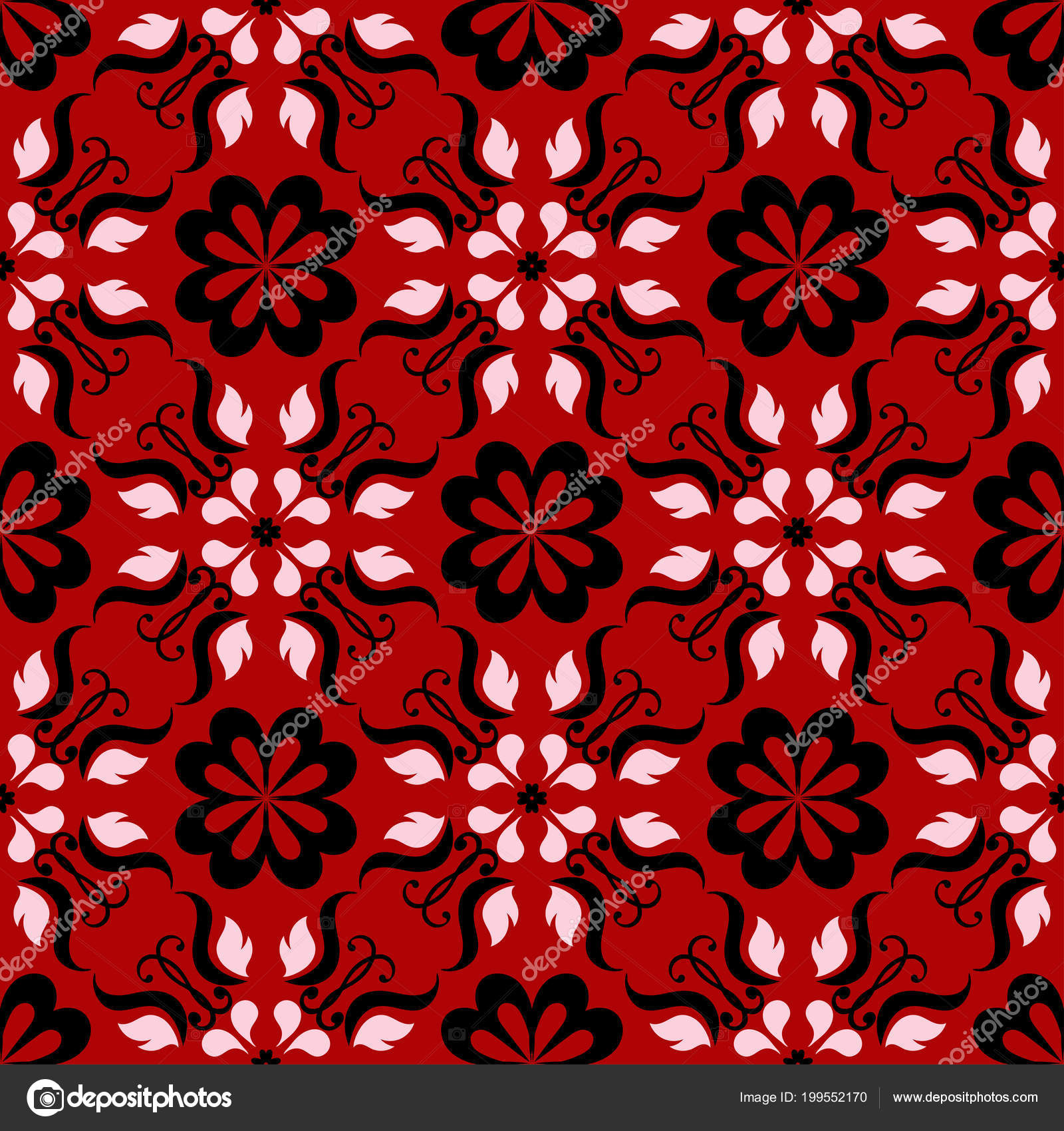 Background Black And White Design Wallpaper Red Seamless