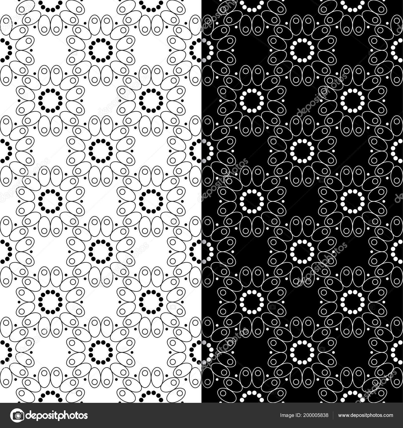 Vettore Sfondi In Bianco E Nero Per Desktop Ornamenti Floreali