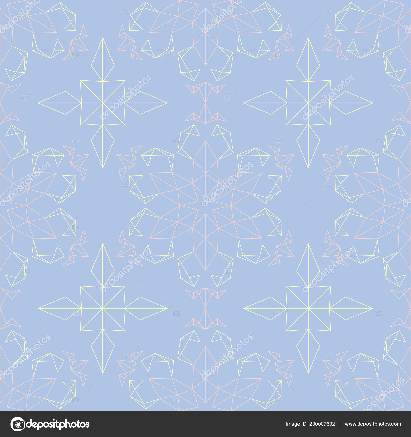Floral Blue Seamless Pattern Colored Background With Beige And Pink