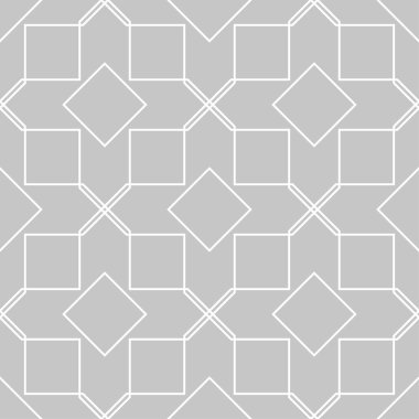 Gray and white geometric ornament. Seamless pattern for web, textile and wallpapers