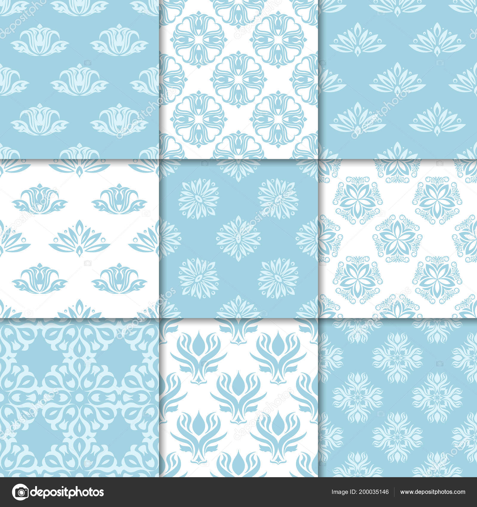 Floral Backgrounds Navy Blue Seamless Pattern Designs Wallpapers