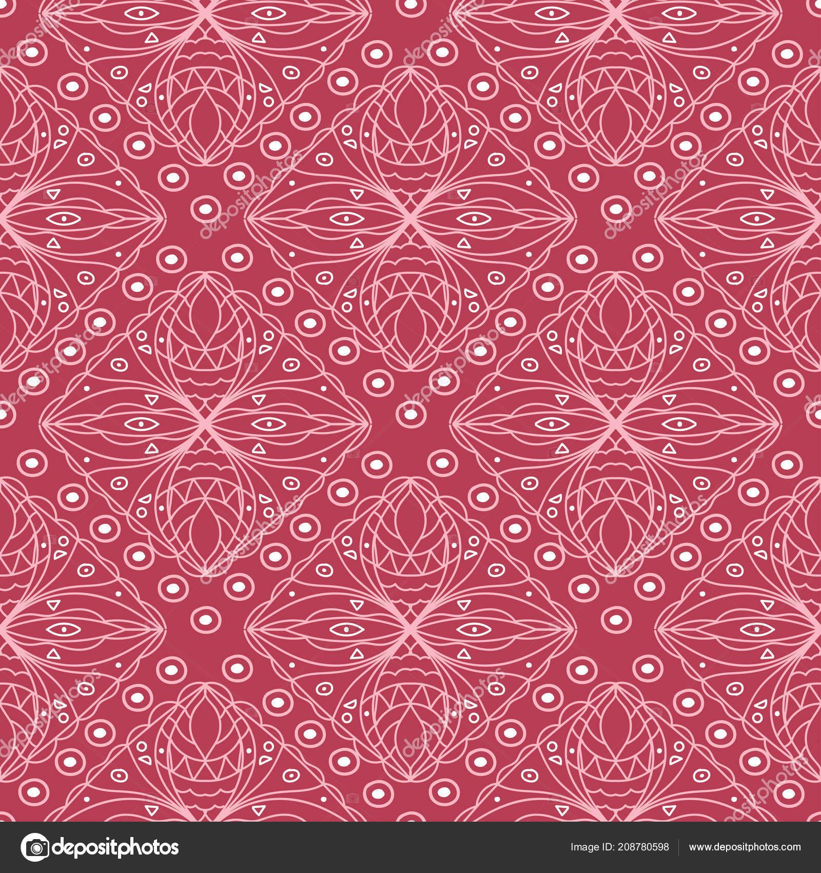 röda tapeter med mönster