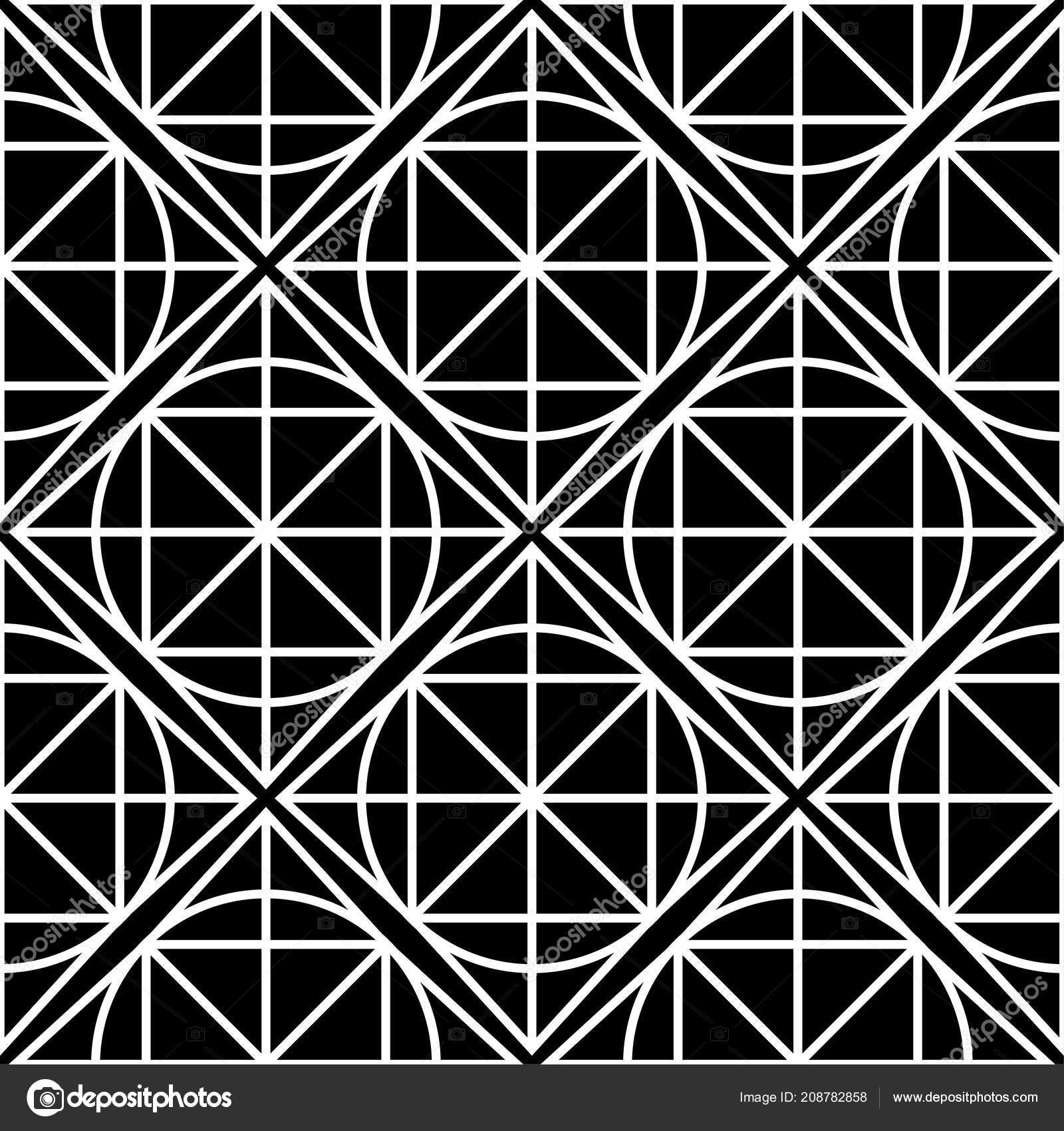 Black And White Geometric Seamless Pattern For Web Textile Wallpapers Vector By Crumsig