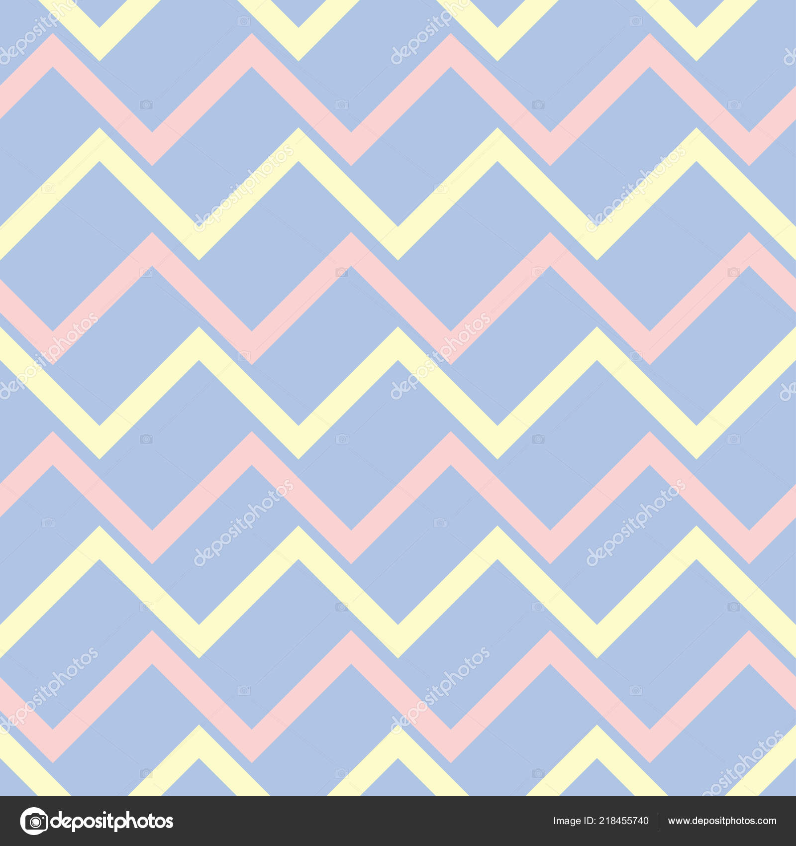 Geometric Blue Seamless Pattern Beige Pink Elements Wallpapers Textile Fabrics Stock Vector