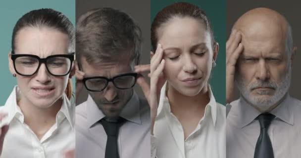 Corporate business people having a bad headache