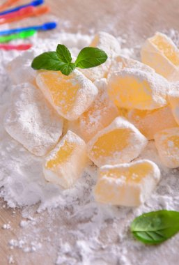 Traditional greek or turkish sweet delight - Loukoumi