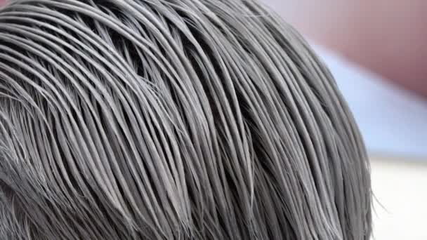 The Result Of The Coloring Of Hair in Perfect Steel grey Color