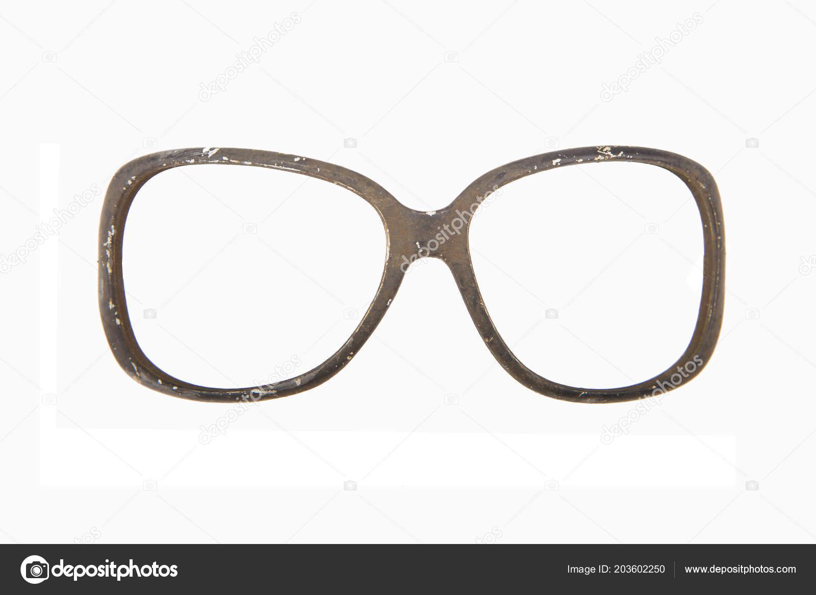 a1abcd33d38d5 Armação Óculos Antigos Destruídos — Stock Photo © MAXSHOT  203602250