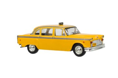 Taxi New York, Yellow Isoalted. New York Cab Toy
