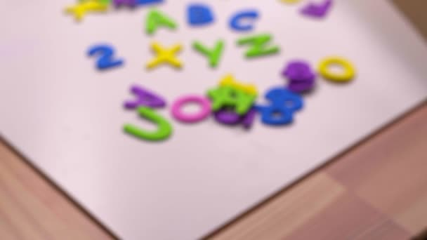 Colorful letters composition - Concept of studying and learning ABC XYZ.