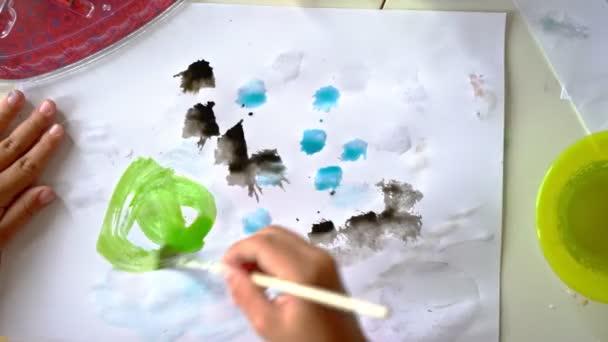 Részletei Childs kézfestés akvarell