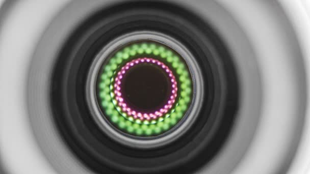 Makró lövés egy objektív membrán nyitó és záró